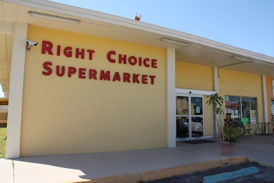 The Right Choice Supermarket is the place to pick up a few things you might be running short on, but not a major reprovisioning spot.