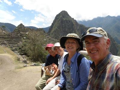 David, Jan, Rayene & Doug at Machu Picchu, Peru