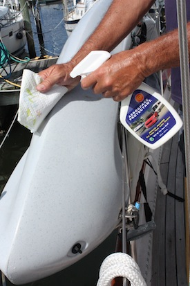 303 Aerosol Protectant is sunscreen for your kayak!