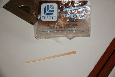Sandwich picks save the day ... or save me from breaking a leg ... both are good!