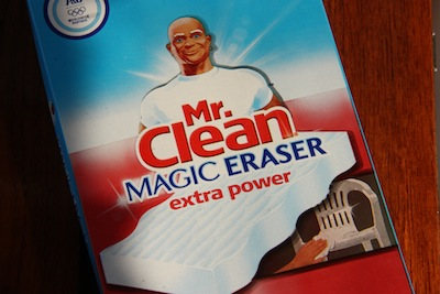 I bought a package of 4 Mr Clean Magic Erasers