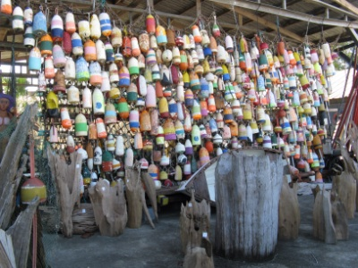 Crabpot buoys ... or maybe lobster buoys ... although Apalachicola is known for Oysters.