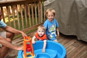 The back deck is always fun!  If you're a grandparent looking for a fun present , this is it!
