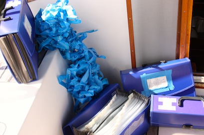 Trash the blue tape and the old file binders!  WooHoo!