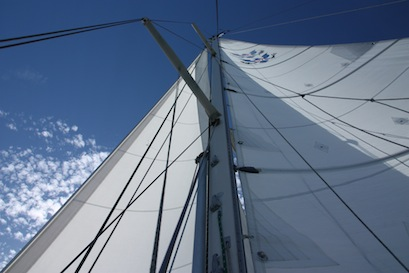 Close hauled and enjoying every minute of a wonderful sail.