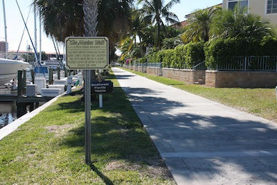 One of our favorite walks, the marina walk around the two boat basins in Burnt Store Marina.