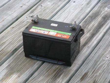 Starting Battery Fire