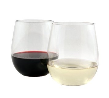 Stemless shatterproof wine glasses that can be washed in the dishwasher!