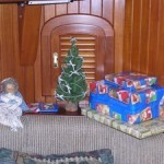 Our tiny Christmas tree and angel the first year we didn't fly back to the US for Christmas - 2006