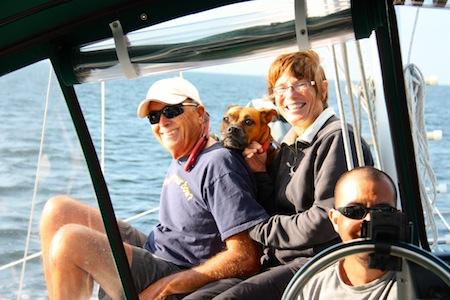 Betsy, David & I enjoying being