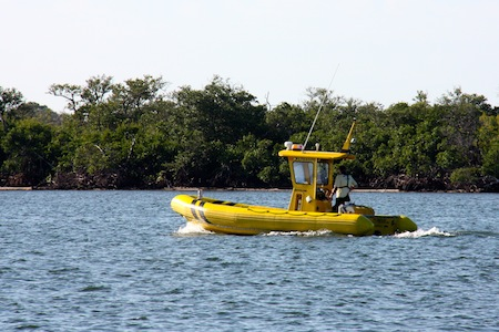 Sea Tow to the rescue when a power boat wrapped it's anchor line around it's prop.