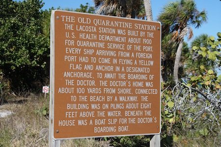 1.6 miles down a trail brings you to the site of the former Quarantine Station and even though there's nothing left, the sign inspires imagination.