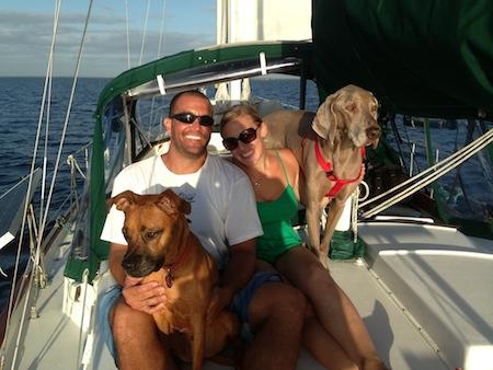 The entire sv Mary Christine Family enjoying their sail