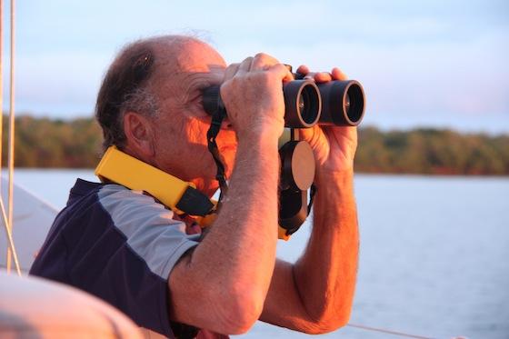 Yellow Float Strap on our Fujinon 7 X 50 binoculars