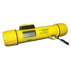 David's favorite present ... ever.  A Portable Depth Sounder.