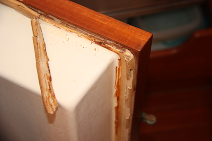 The original icebox door seal, why haven't we already replaced this?  :(
