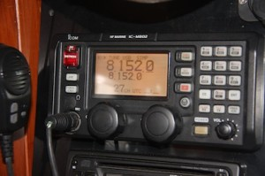 Our Icom M802 requires an FCC Ships Station License as well as an Operators Permit.