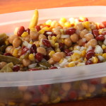 My favorite 3 bean salad ... almost entirely from cans so I can make it anytime ... even after the fresh stuff runs out.