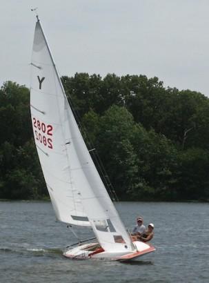 David & I racing YFlyer 2802 last summer.