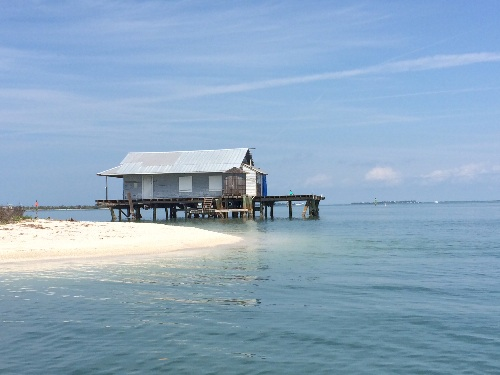 An example of an old Florida stilted fishing hut.
