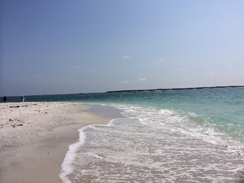 Looking across the beach to the channel beyond ... and even further beyond is Cayo Costa.