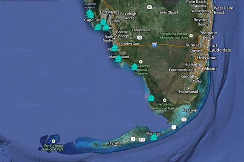 Map Of Southwest Florida Coast.Sail The Southwest Florida Coast To The Keys 8 Hours At A