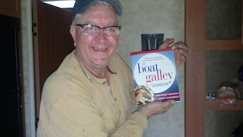Our Y Flyer racing friend, Dan Haile, finds The Boat Galley Cookbook useful in their RV!