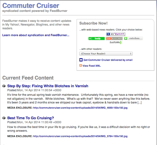 commuterCRUISER.com does not save your e-mail information, so your privacy is assured.