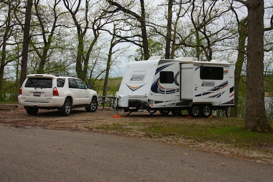 Camping the first night at Chain O Lakes State Park, Antioch, Illinois!
