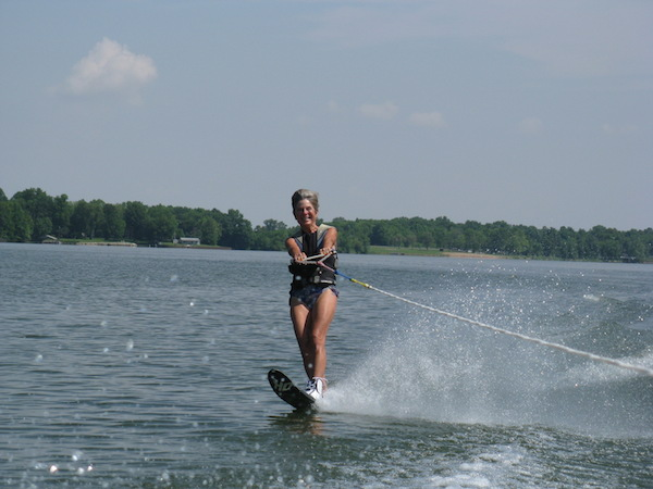 First ski of the season ... I love being at the lake when it's ski season!