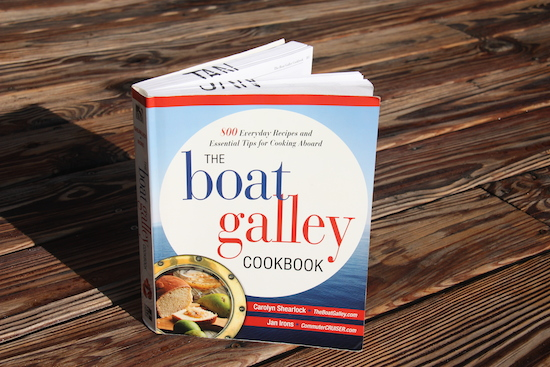 My copy of The Boat Galley Cookbook - getting a bit dog earred!