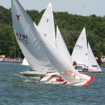 Y Flyers racing -- 19 boats at the Riviera Regatta... expecting more like 30 for Y Flyer Nationals.
