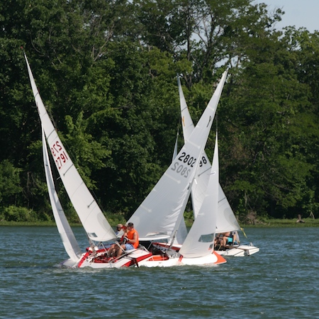 Competition at the 50th Anniversary Riviera Regatta this past weekend.