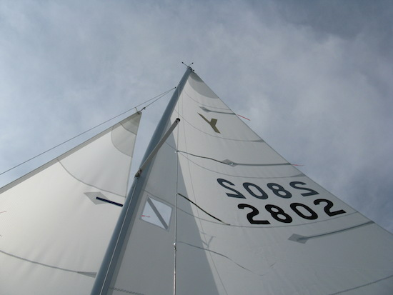 Y2802 sporting her new North Sails.