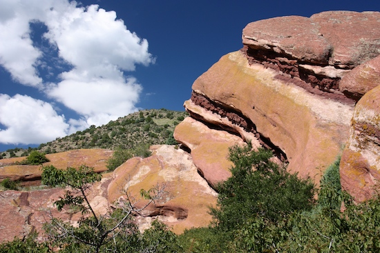 "Hiking the Trading Post Trail at Red Rocks. ""Only 1.4 miles"" at 6.400 altitude was challenging. The hot hot temps didn't help."