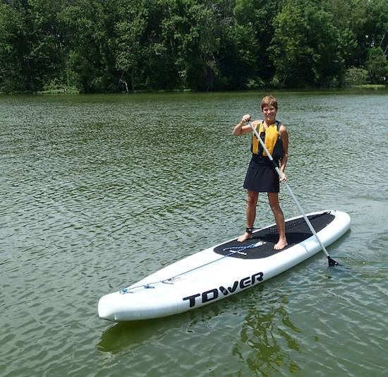 My first time on a inflatable Tower Standup Paddleboard.