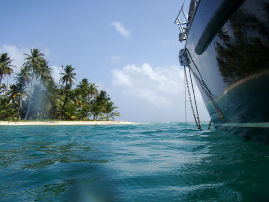 Swimming ashore and snorkeling off the boat is a great attraction of cruising Caribbean waters.