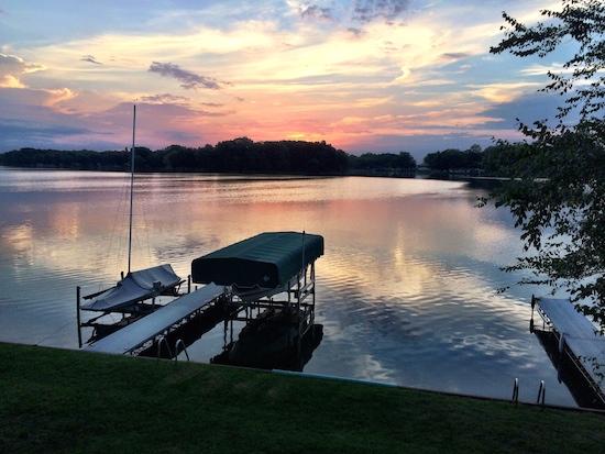 Sunrise over the Lake House
