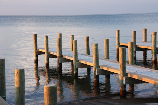Boat dock in Ocracoke Village