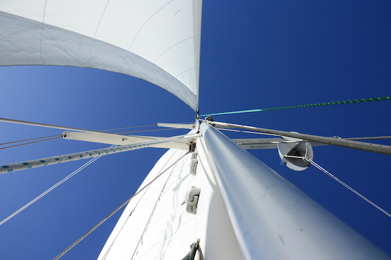Ahhhh... sailing, blue skies, dolphins ... does it get better?