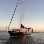 Anchored at Chino Island, just before sunset.