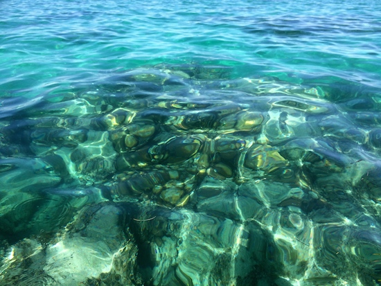 Rocks and coral will make for better snorkeling than we've had since we returned to the US.