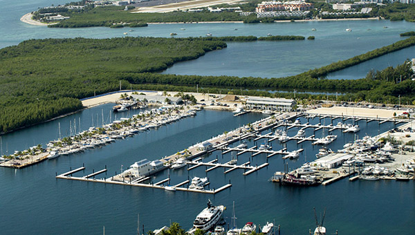 Stock Island Marina from the air - you can see the LONG dock that is the fuel dock?