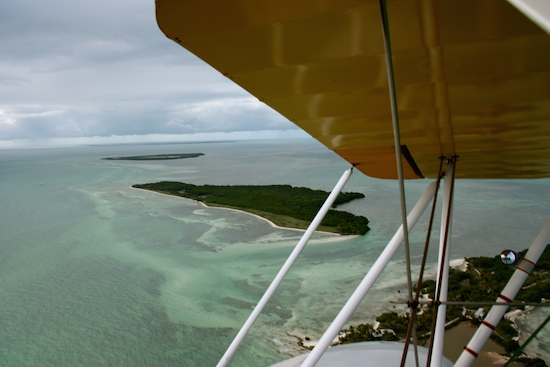 Aerial looking at Woman Key toward Boca Grande.