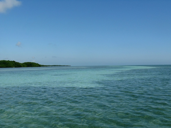 The sandbar off Boca Chica -- enjoy wading in the water while fighter jets take off almost vertical above our heads.