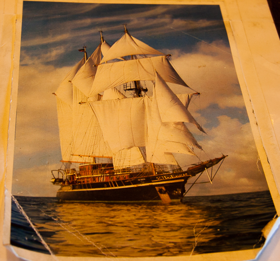 Peacemaker under full sail - glorious!  We missed this part...