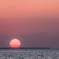 Our last anchored out sunset for this spring was pretty spectacular and the photo never does them justice, but ...