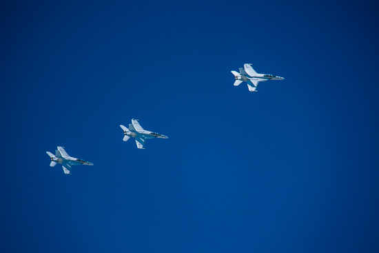 F-18's flying in formation