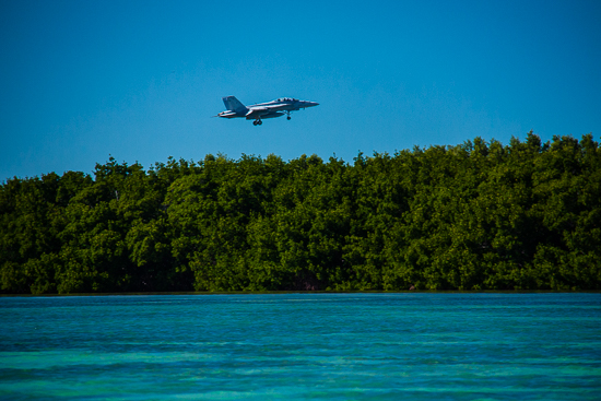 F18 Landing on Boca Chica Key, Naval Air Station Key West