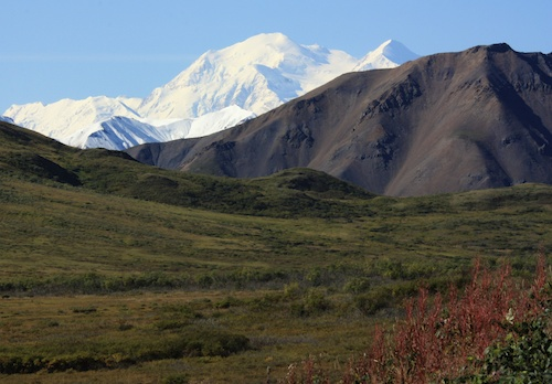 Mt McKinley at Denali National Park - not possible to explore by cruising sailboat!
